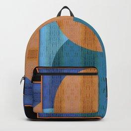 Orange Blues Geometric Shapes Backpack