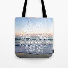 Flower shell mandala - shoreline Tote Bag