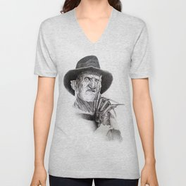 Freddy krueger nightmare on elm street Unisex V-Neck