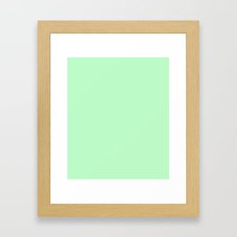 Light Green Framed Art Print
