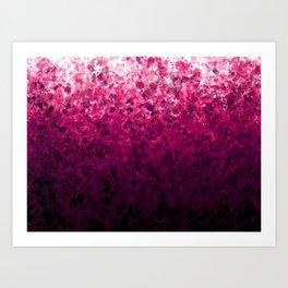 Magenta Spots Art Print