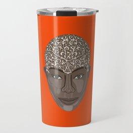 brown visage Travel Mug