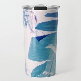 Banana Leaf Blue Travel Mug