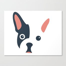 wow frenchie Canvas Print