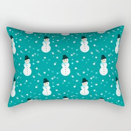 Little Snowmen Rectangular Pillow