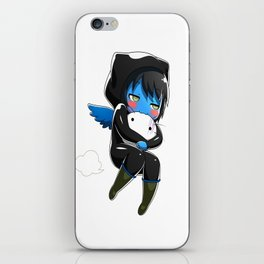 Fuzzy Chibi Luc (Expression 2) iPhone Skin