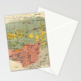 Vintage Geological Map of The Mount Everest Region (1921) Stationery Cards