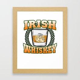 IRISH WHISKEY Irland St Patricks Day Scotch Glas Framed Art Print