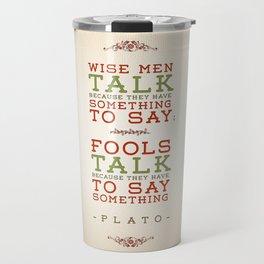 Plato regarding talking Travel Mug