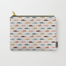 Lazy Cat Pattern Carry-All Pouch