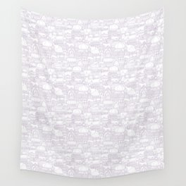 Delightful Domes - Mauve Wall Tapestry