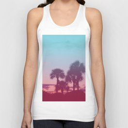 Palm Tree Sunset Unisex Tank Top