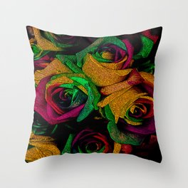 Funky Roses IV Throw Pillow
