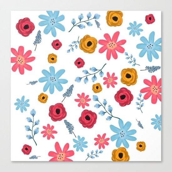 Colors Flowers 3 Canvas Print