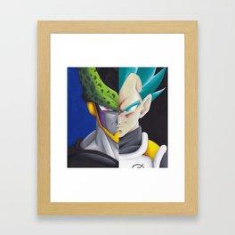 Cell vs Vegeta  Framed Art Print