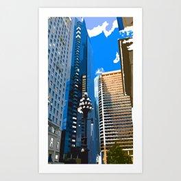 Downtown Philladelphia. JFK Plaza Art Print