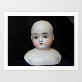 Typewriter Key Creepy Mentalembellisher Doll Art Print