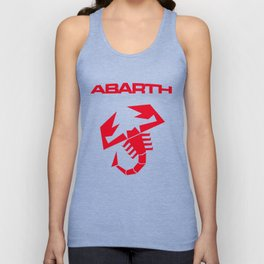 Abarth scorpion red Unisex Tank Top