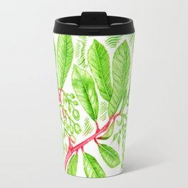 Branch of a Strawberry tree in Winter Travel Mug