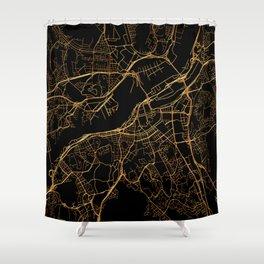 Gothenburg map, Sweden Shower Curtain