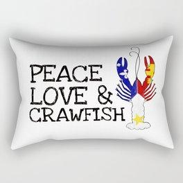 Peace, Love & Crawfish Rectangular Pillow