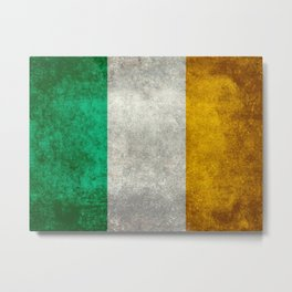 Flag of the Republic of Ireland, Vintage style Metal Print