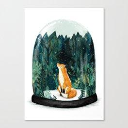 Snow Globe Fox Canvas Print