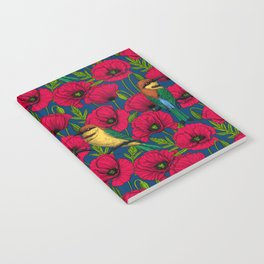 Bee eaters and poppies Notebook