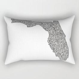 Florida Map Rectangular Pillow
