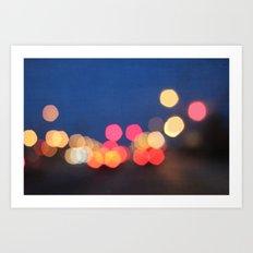 bokeh nights Art Print