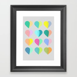 many hearts Framed Art Print