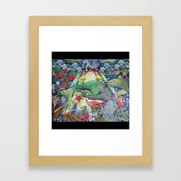 Syren the mermaid her  Framed Art Print
