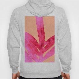Peach Pink Ferns, Living Coral Hoody