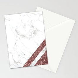 Rose Gold M Stationery Cards