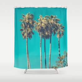 A Few Turquoise Palms Shower Curtain