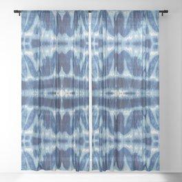 Tie Dye Blues Twos Sheer Curtain