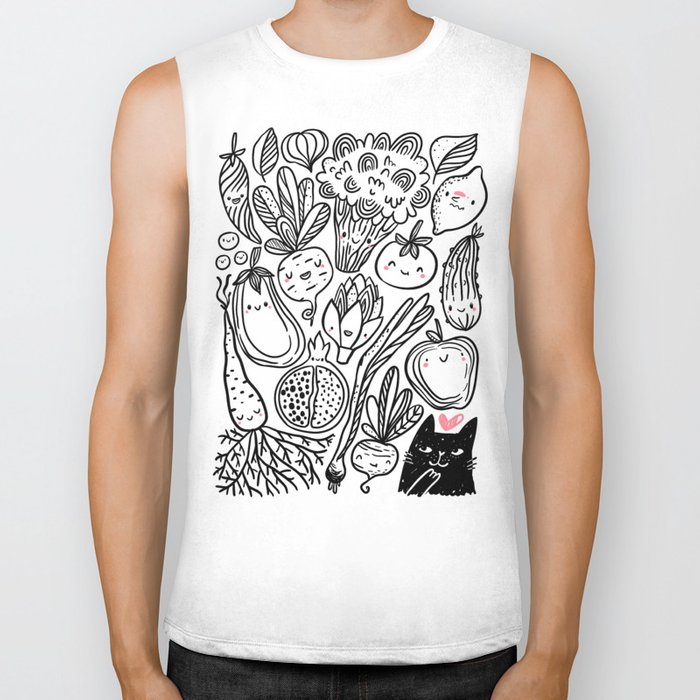 Funny Vegetables Biker Tank