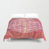 flower of life Duvet Covers featuring Life Flower by shutupbek