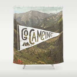 Go Camping Shower Curtain