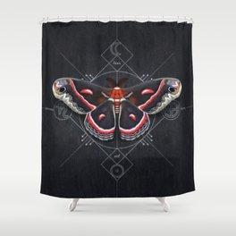 Hyalophora Cecropia Shower Curtain