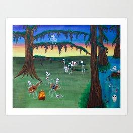 Beautiful Bodies Farm Scene Art Print