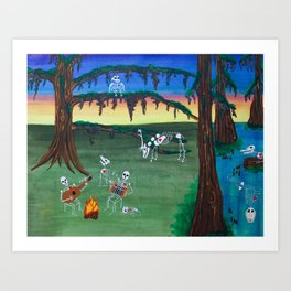 Beautiful Bodies Farm Scene Art Print