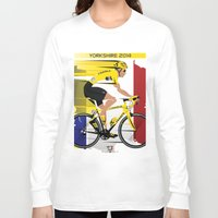 tour de france Long Sleeve T-shirts featuring Grand Depart Yorkshire Tour De France  by Wyatt Design