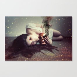 She Saw Death Coming Like A Falling Star. Canvas Print