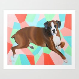 Hannah the Boxer Dog Art Print