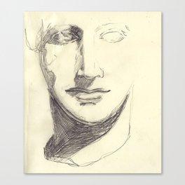 Head of a Goddess - sketch Canvas Print