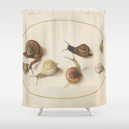 Naturalist Snails Shower Curtain