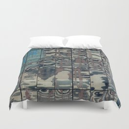Reflections of Steel NYC 212-1 Duvet Cover