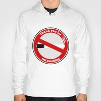 smoking Hoodies featuring No Smoking by mailboxdisco