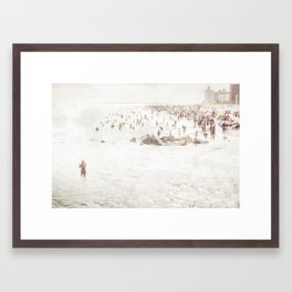 Coney Island 2014 - Beach Framed Art Print
